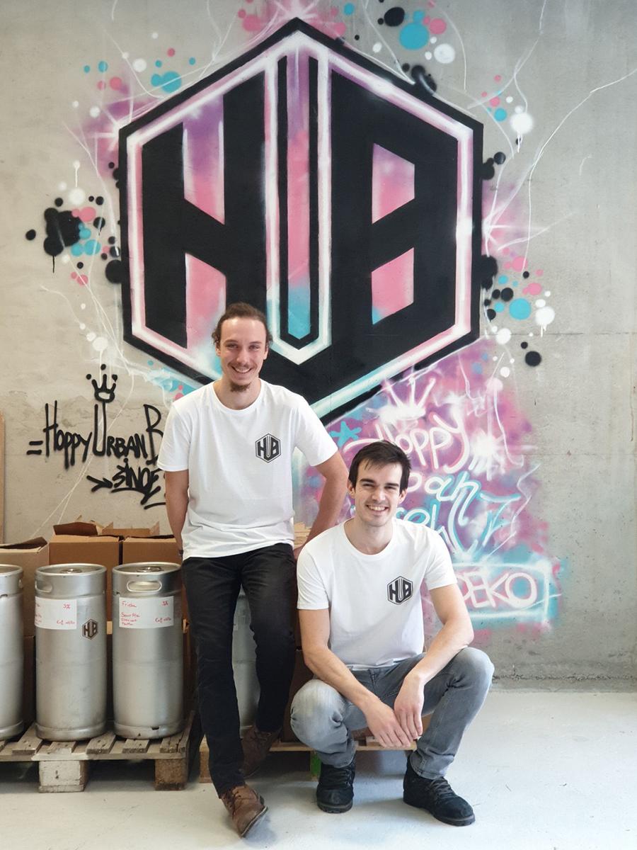 Brasserie HUB : Sébastien Verbeke et Alexis Cardot. Photo : Loïc Trinel (Office de Tourisme Roubaix).