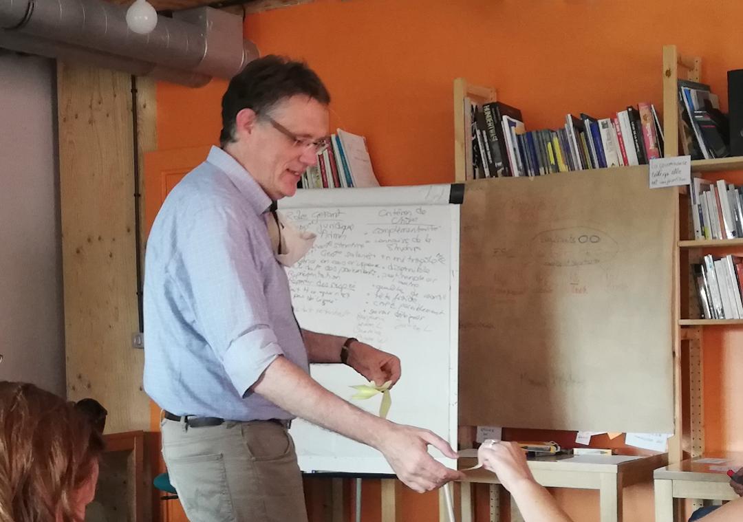 Christophe Barron, accompagnateur de transitions, Optéos, animation d'une élection sans candidat, La Baraka, Roubaix