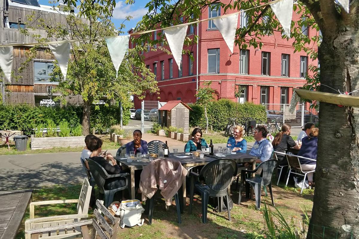 Repas de la Journée Annuelle Optéos à Baraka (Roubaix), septembre 2020 - Photo : C. Dupuy