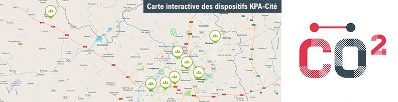 Carte interactive des projets inspirés par le dispositif KPA-Cité (Communecter)