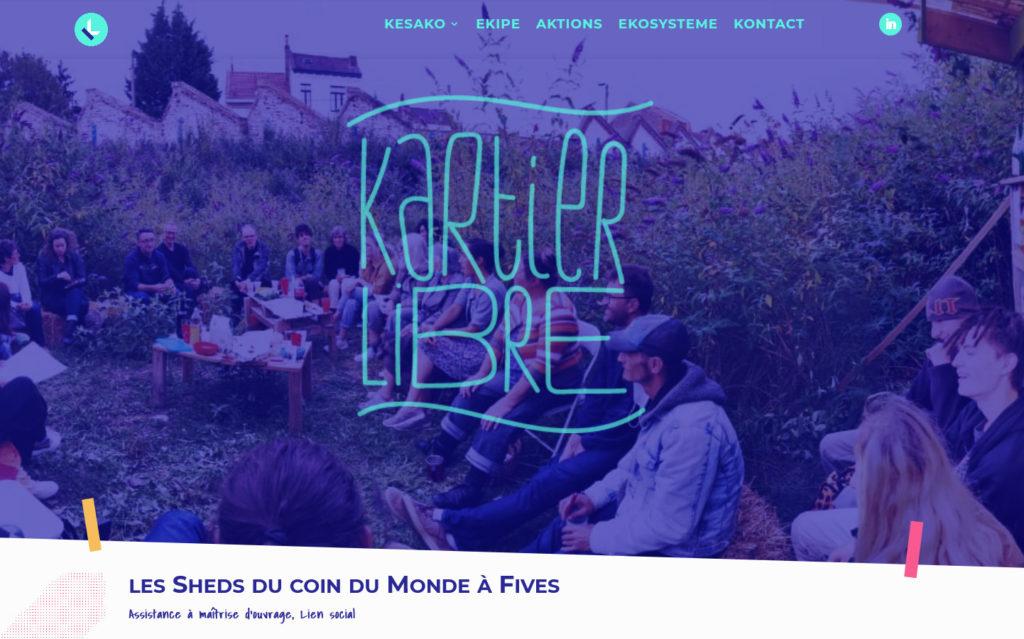 Kartier Libre, webdesign par Etienne Cerneau